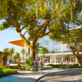 Rendering of the STEM center at Ransom Everglades