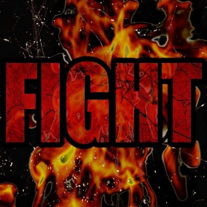 the word fight with flames behind_canstockphoto43470210-2